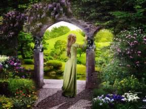 The Secret Garden Flowers Flowers Garden Pictures Hd Wallpaper Free