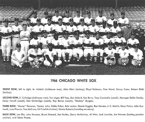 thedeadballera 1966 chicago white sox team photo