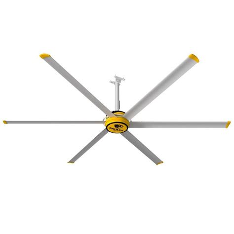industrial shop ceiling fans big fans 3025 10 ft yellow and silver aluminum shop
