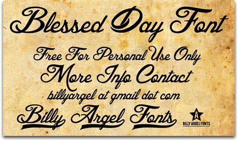 tattoo fonts billy argel blessed day font 1001 free fonts
