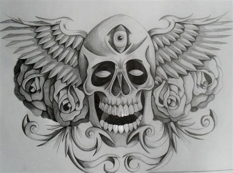skull with wings tattoo skull wings tattoos www pixshark images