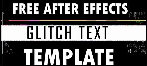 free after effects glitch text template free stock