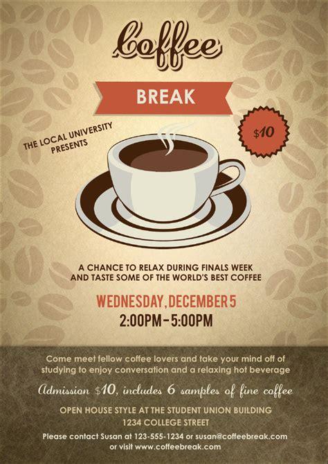 coffee club card template coffee club flyer