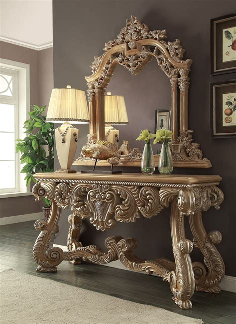Royal Kingdom Console Table & Mirror Homey Design HD 7012