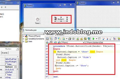 tutorial delphi dasar cara membuat form2 selalu mengikuti form1 di delphi 7