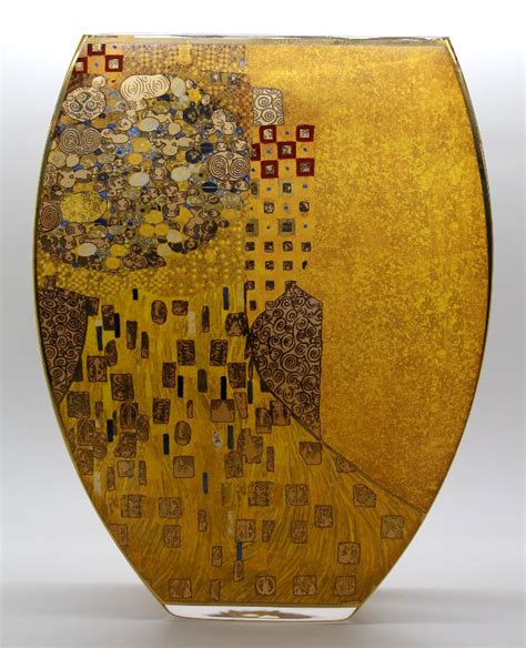Gustav Klimt Vase by Gustav Klimt Ad 232 Le Bloch Glass Vase