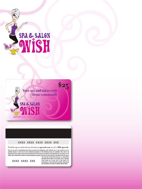 Spa Wish Gift Card - download spa and salon wish gift certificate for free tidyform
