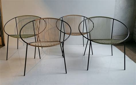 Mid Century Modern Patio Furniture Classic Mid Century Modern Outdoor Quot Hoop Quot Chairs By Salterini At 1stdibs