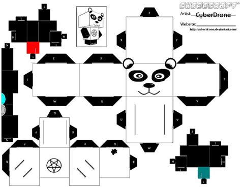Panda Papercraft - browsing cubeecraft on deviantart pepakura