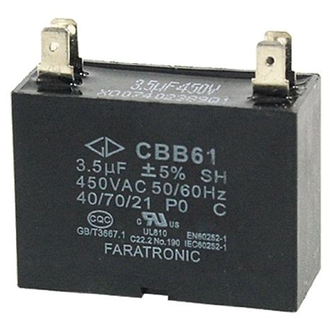 ceiling fan capacitor c61 cbb61 c61 fan motor capacitor 3 5uf 250vac 2 wire