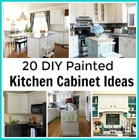 Diy Painting Kitchen Cabinets Ideas by 20 Diy Painted Kichen Cabinet Ideas