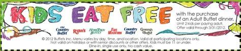 kids eat free w adult buffet purchase at hometown buffet