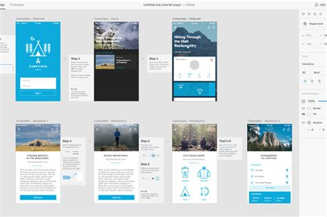 Adobe Xd Debuts As A Free Mac Public Preview Macworld Adobe Xd App Templates