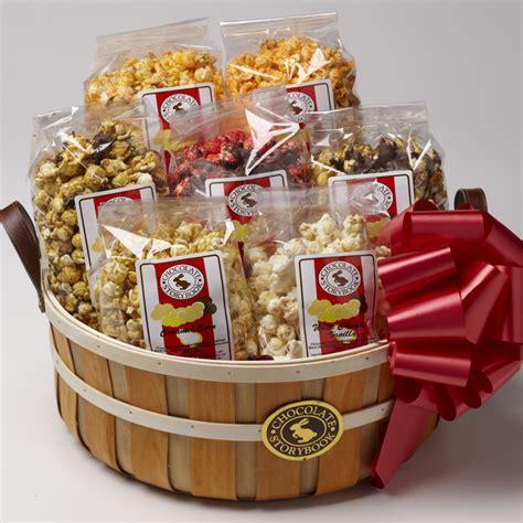 popcorn gifts for popcorn sler basket custom handmade chocolates