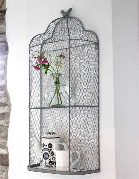 perching bird metal wall shelves by the forest co
