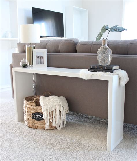 pictures of console tables behind sofas diy wood console table saffron avenue saffron avenue