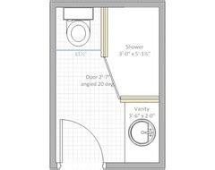 4 x 6 bathroom layout need help with bathroom layout