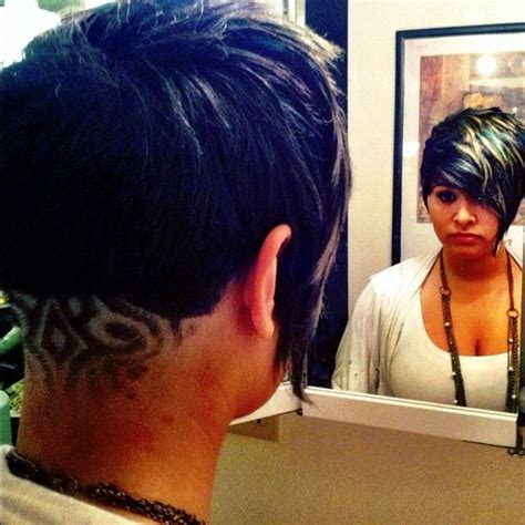 tattoo girl hairstyles 1000 images about half shaved head on pinterest shaved