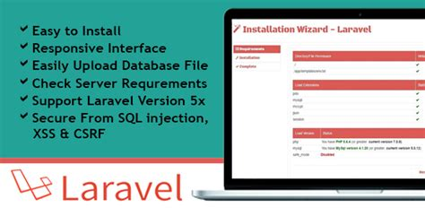installing laravel bootstrap installation wizard laravel by bitdrops101 codecanyon