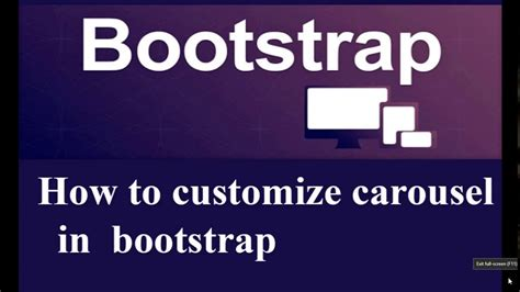 bootstrap tutorial youtube carousel how to customize carousel in bootstrap in hindi youtube