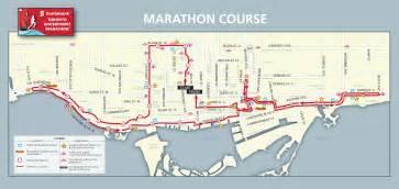 marathon map marathon information scotiabank toronto waterfront marathon