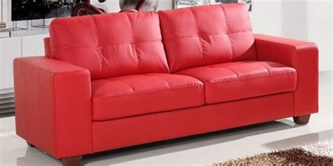 sectional sofas for small areas small red leather sofas for vibrant small living area in