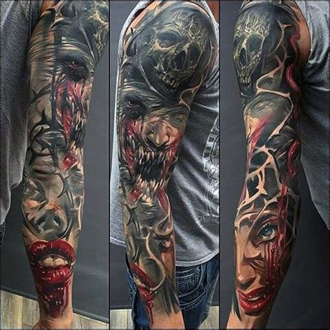 sick sleeve tattoo designs 80 sick tattoos for masculine ink design ideas