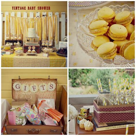 vintage baby shower decorations kara s ideas yellow vintage baby shower ideas