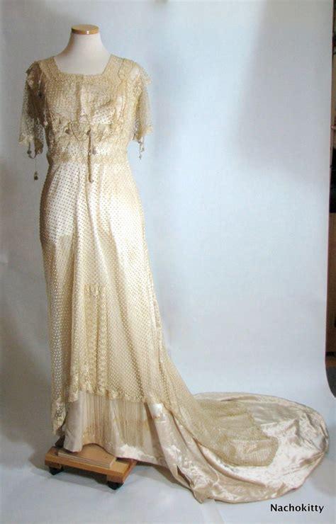 Vintage Silk Wedding Dresses by Antique Silk Vintage Wedding Dress Onewed