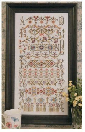 buckleberry manor quot buckleberry sler quot is the title of this cross stitch