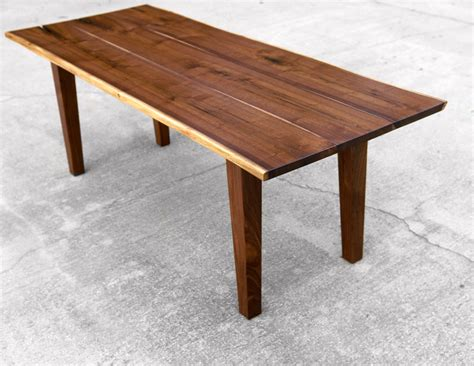 Walnut Table Legs by Custom Walnut Live Edge Dining Table With Tapered Legs By
