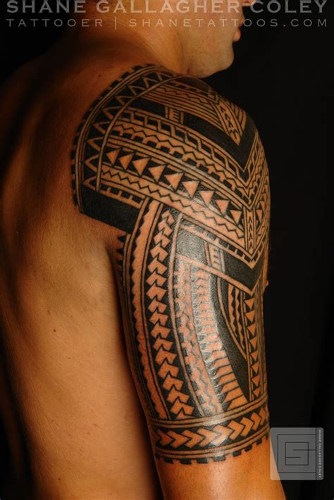 half sleeve polynesian tattoo designs shane tattoos polynesian half sleeve