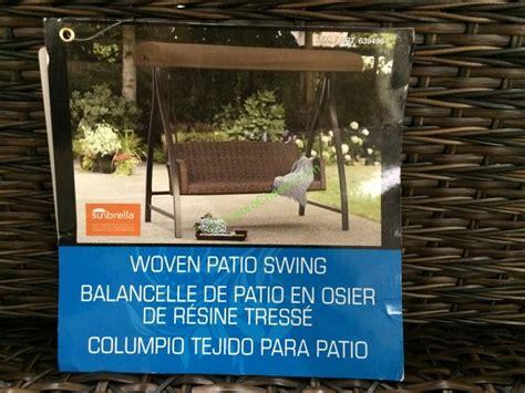 Agio Woven Patio Swing by Agio International 3 Person Woven Swing Costcochaser