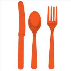 knives and forks sets orange fork knife and spoon set