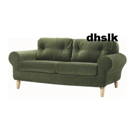 green velvet sofa ikea ikea lund bjuv 2 seat loveseat sofa slipcover cover sanga
