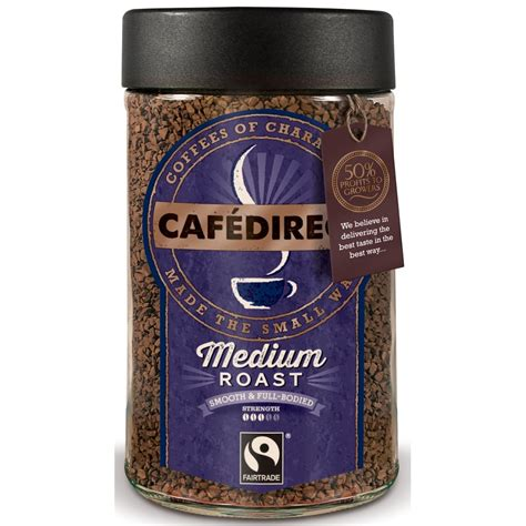 Cafedirect Special Instant Fairtrade On The Go cafedirect fairtrade classic instant coffee 100g