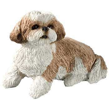 shih tzu collectibles shih tzu figurine sitting small gold white ss16401 at animal world breeds picture
