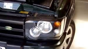 how to remove the grille and headlights on land rover