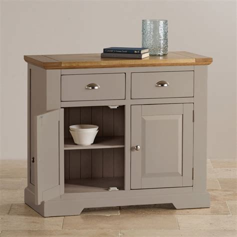 Rustic Dining Room Tables Natural Oak And Light Grey Painted Small Sideboard