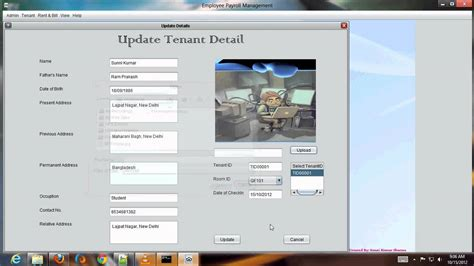 apartment database design tenant rent bill manager info system youtube
