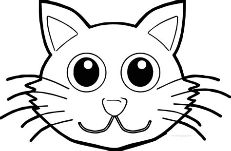 coloring page of a cat face cat face front coloring page wecoloringpage
