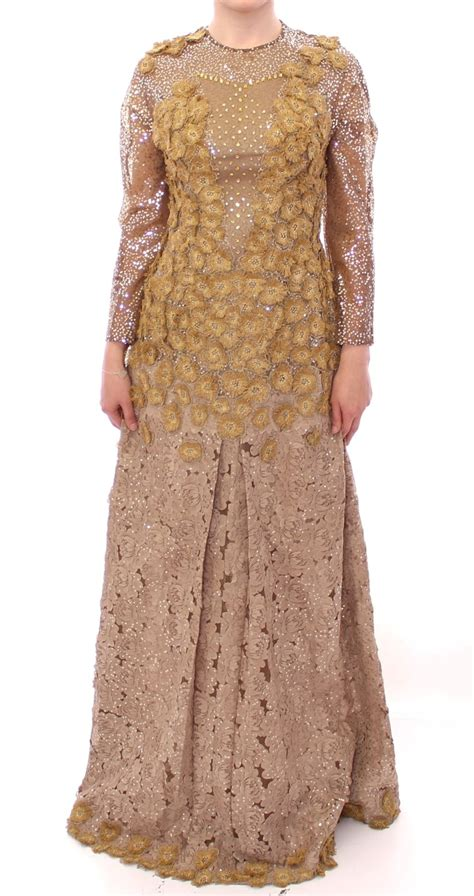 Mozza Maxi Exclusive Gold gold lace maxi dress luxury fashion for less