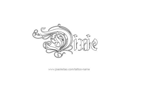 dixie tattoo dixie name designs