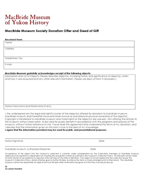 Gift Deed Letter Deed Of Donation Form 2 Free Templates In Pdf Word