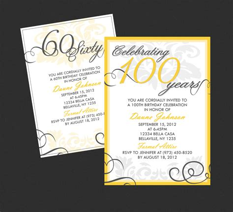 Birthday Invitation Cards For Adults Templates by 40th Birthday Ideas Free Birthday Invitation Templates Adults