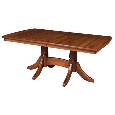 amish tables baytown pedestal extension table amish tables