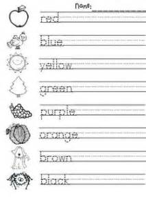 color writing teaching colour and pictures on