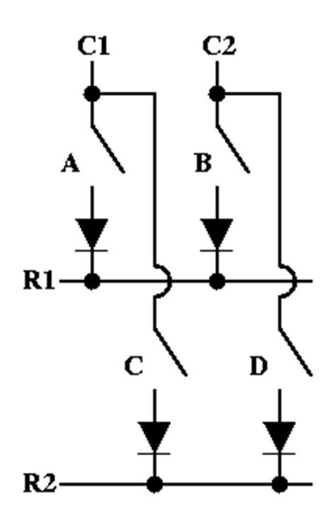 open diode keyboard matrix help