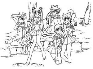 manga girls coloring pages sheets printable