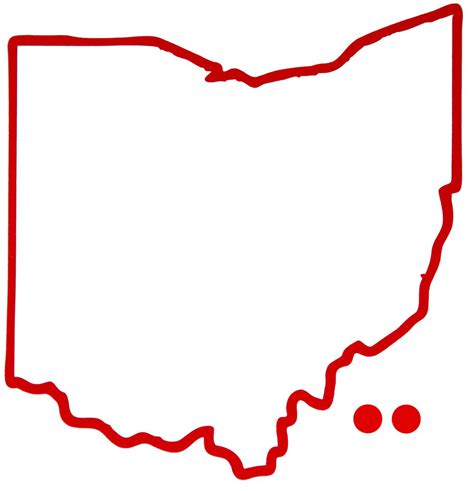 Outline Of Ohio Vector by Pin Ohio Outline Blank Map Pdf Single Layer Digital Vector Maps On